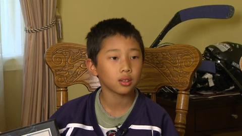 華裔冰球家庭