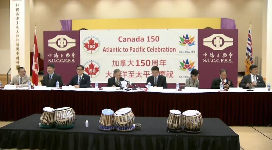 來自8個城市的團體發起擊鼓行動, 慶祝加拿大150週年國慶 APR26 2017(BC)
