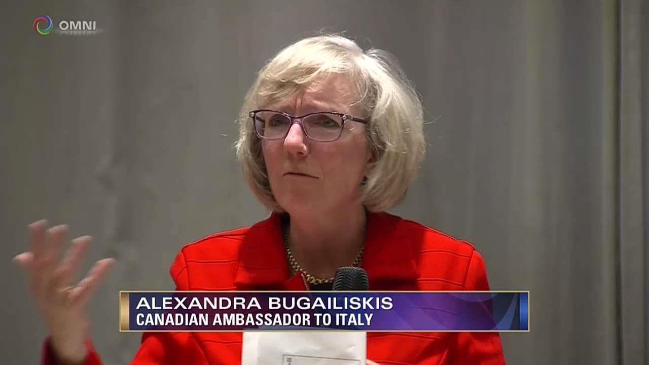 Un benvenuto all'Ambasciatrice Canadese in Italia, Alexandra Bugailiskis