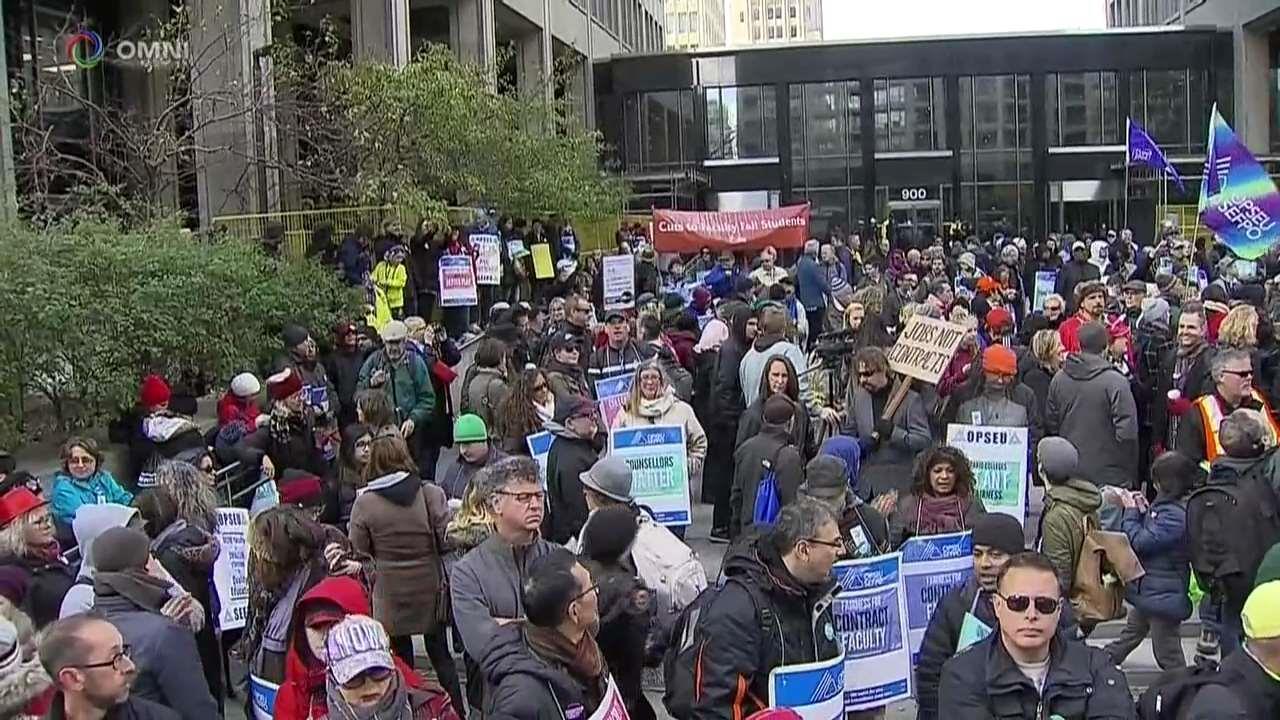 Al voto sullo sciopero dei college in Ontario