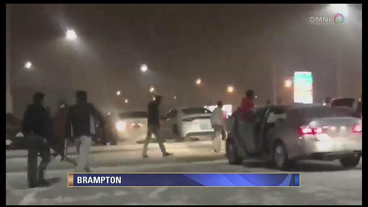 Three arrested in Brampton plaza case